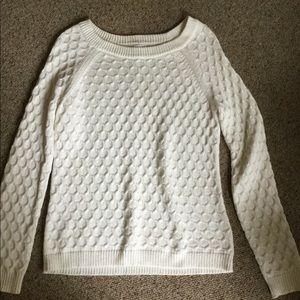 Ladies medium off white  pullover sweater